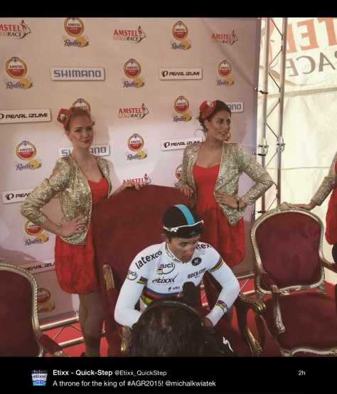 AGR podium throne