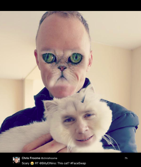 Froome scary cat face