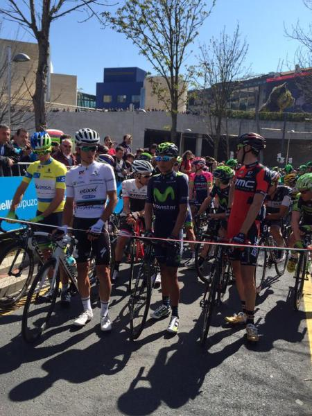 Protesting riders delayed start of stage 2