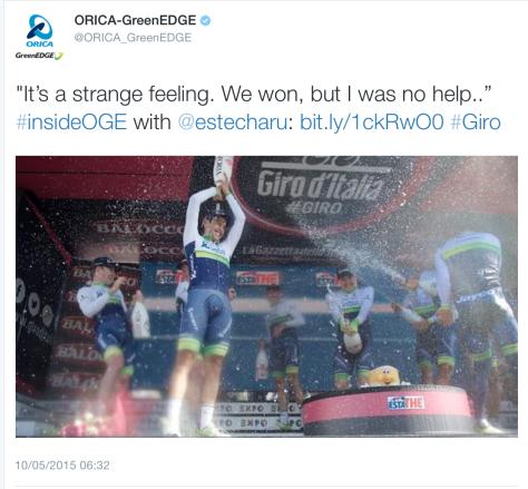 Giro TTT win