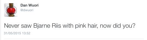pink hair Bjarne