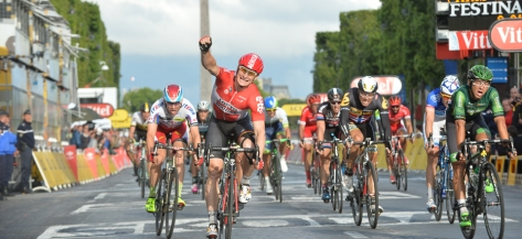 Four stage wins for Greipel at this year's Tour (image: photonews)