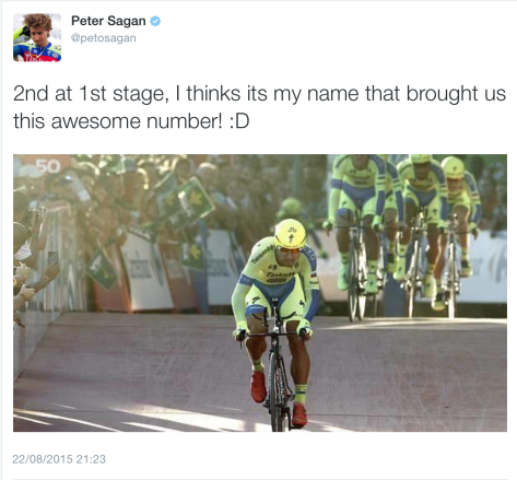 St 1 Sagan sprint