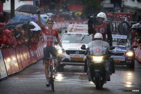 Tim Wellens secures overall with a solo win o stage 6 (image: Photonews)