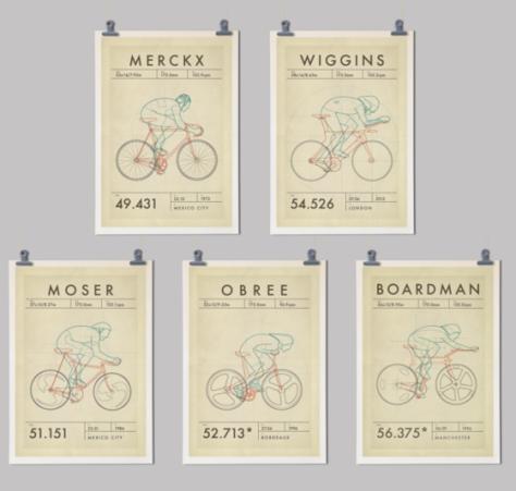 hour record set; handmade cyclist