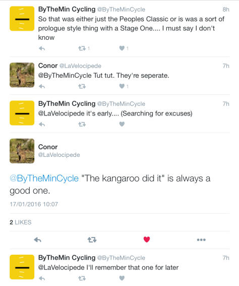 TDU Peoples Classic confusion