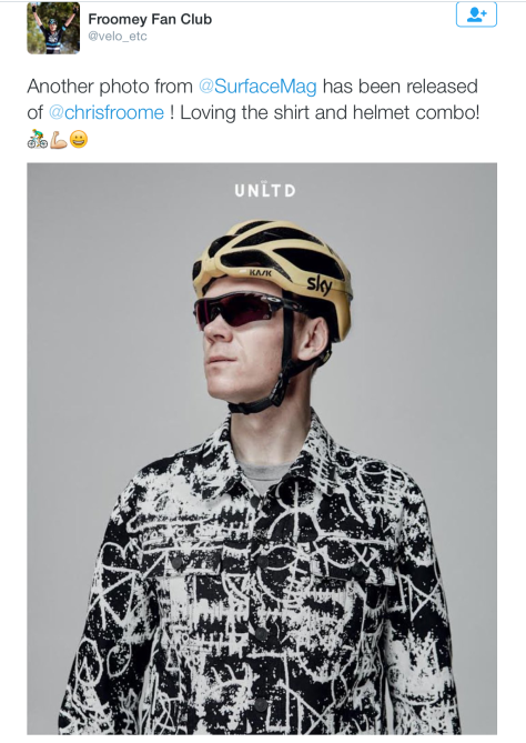 G Froome fashion