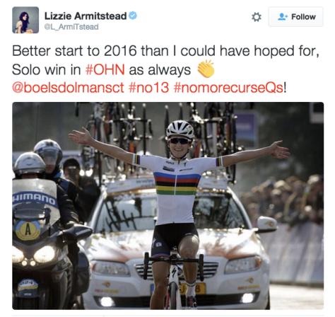 Lizzie Armitstead 2016 Omloop win
