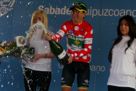 Amets in KOM jersey Vuelta al Pais Vasco 2013 (image: R Whatley)
