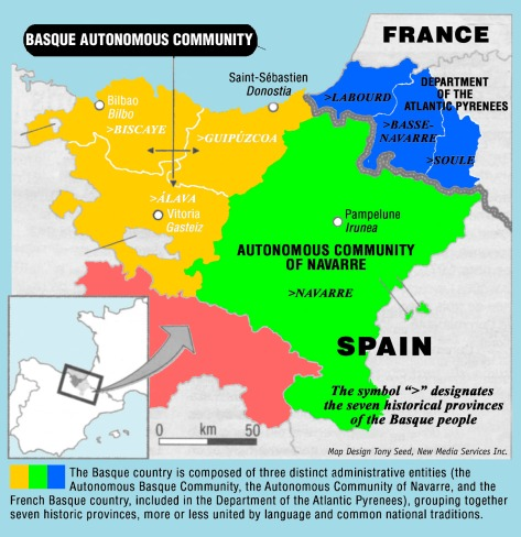 Map of Basque Country