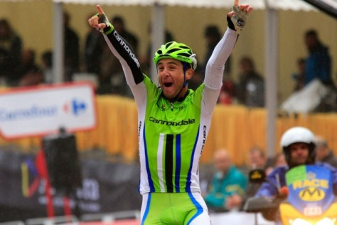 Daniele winning stage 14 Vuelta a Espana 2013 (image: Cannondale)