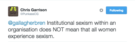 BC INSITUTIONAL SEXISM