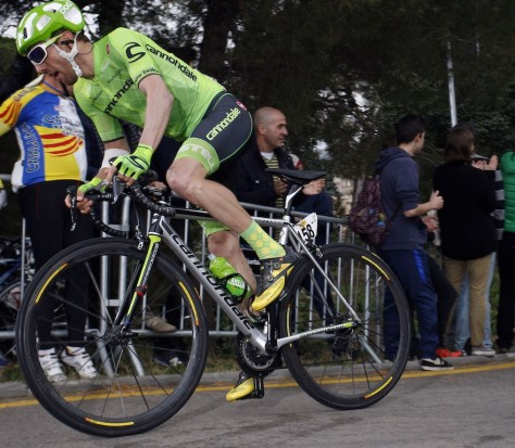 Michael Woods racing in Catalunya stage 7 (image: Cannondale)
