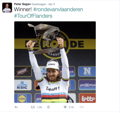 RVV after Sagan podium