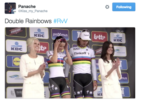 RVV rainbows podium