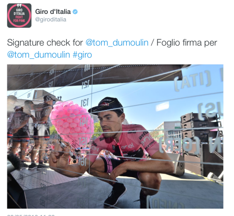 Giro Dumoulin pink sign