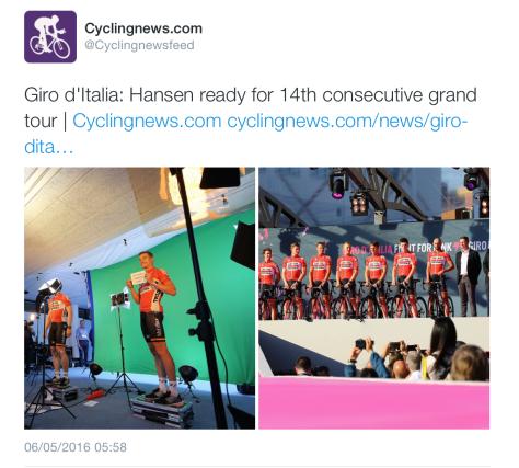 Giro Hansen start