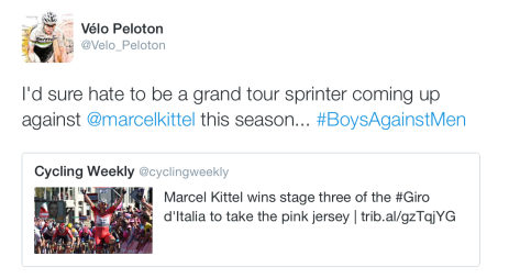 Giro St3 Kittel sprint boys