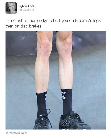 Dau Froome legs