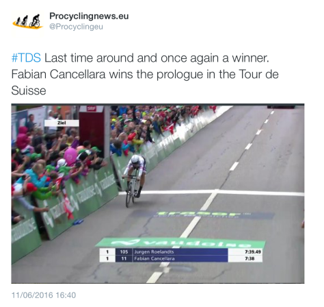 TdS Fabs finish line