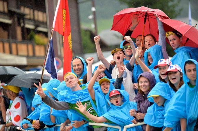 Tour de France 2016 - 23/07/2016 - Etape 20 - Megève / Morzine (146,5 km) - Malgré la pluie, le public reste enthousiaste