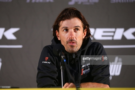 Fabian at Press Conference Team Trek - Segafredo © Tim De Waele