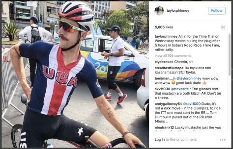 Taylor Phinney mustache