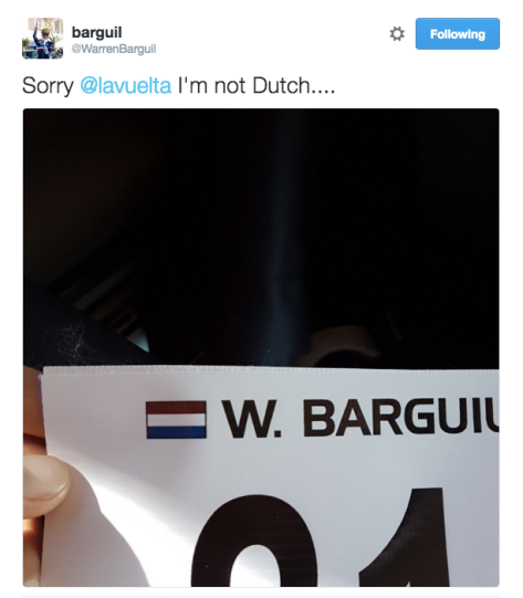 Vuelta Barguil not dutch