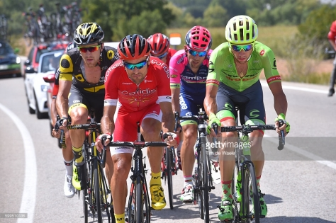 Cycling: 71st Tour of Spain 2016 / Stage 16 Luis Angel MATE MARDONES (ESP)/ Davide VILLELLA (ITA)/ Julien MORICE (FRA)/ Mario COSTA (POR)/ Alcaniz - Peniscola (156,4km)/ La Vuelta / © Tim De Waele