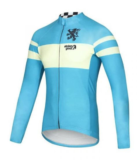 0194b07de47cd1 Stolen Goat Bodyline LS Cycling Jersey – Men's Retro Belgian Blue, £80